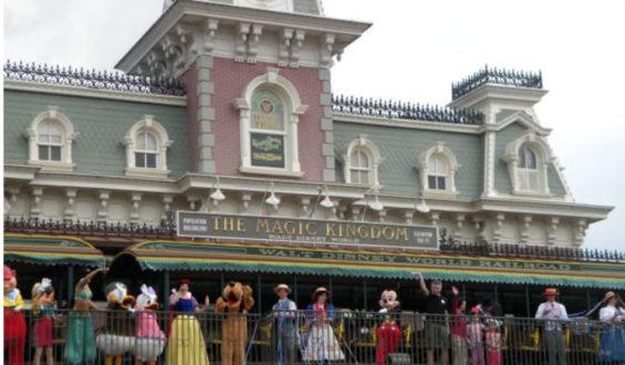 Show de boas vindas no Magic Kingdom!!!