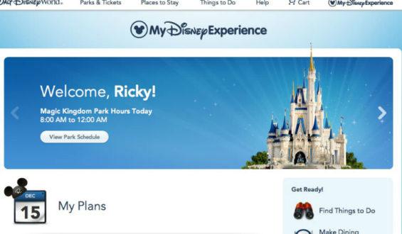 Agendando Fastpass através do aplicativo My Disney Experience