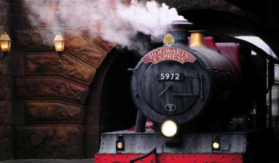 Andando no Expresso Hogwarts!!