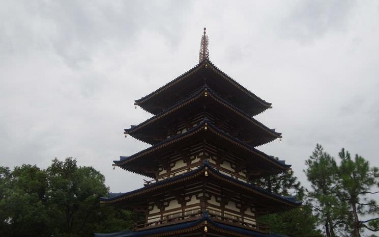 Escolhendo sua pérola no pavilhão do Japão no Epcot!!