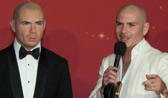A estátua do cantor Pitbull chega no Madame Tussauds