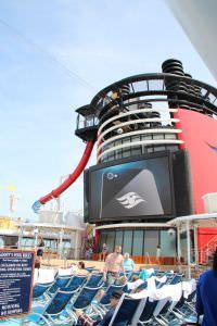 deck da piscina Navio da Disney