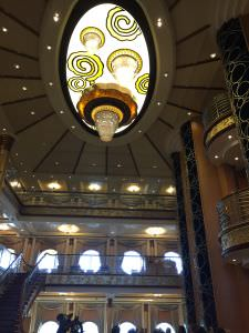 Navio da Disney, lobby do navio