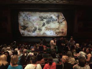 Rapunzel no teatro do Navio da Disney