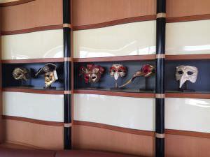 Lobby do restaurante Navio da Disney