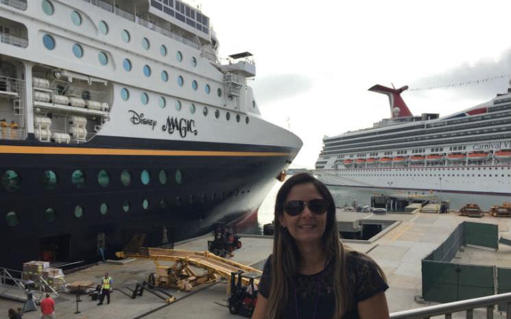 Passamos o dia no navio da Disney!!