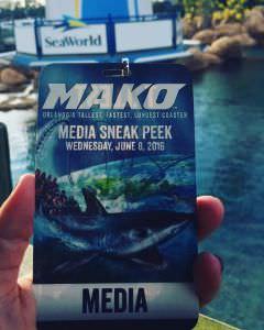 Nova Montanha russa do Sea World, evento de midia, O Mundo Disney
