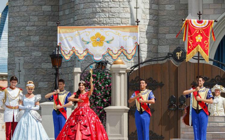 Hoje foi o dia de dar as boas vindas à princesa Elena no Magic Kingdom!