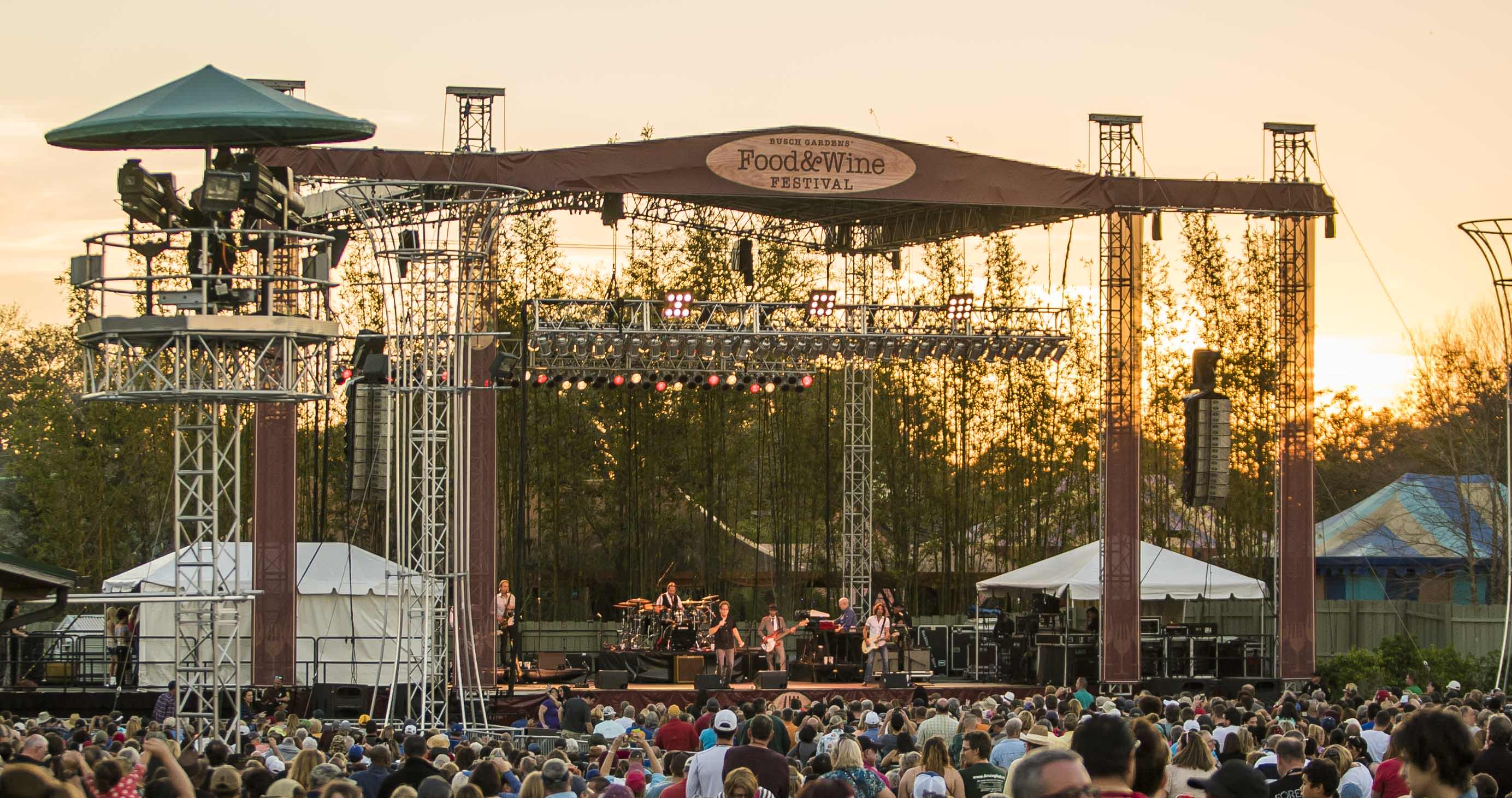 Busch Gardens Tampa Bay Food And Wine Festival Concert 2 Dicas Da Disney E Parques Em Orlando