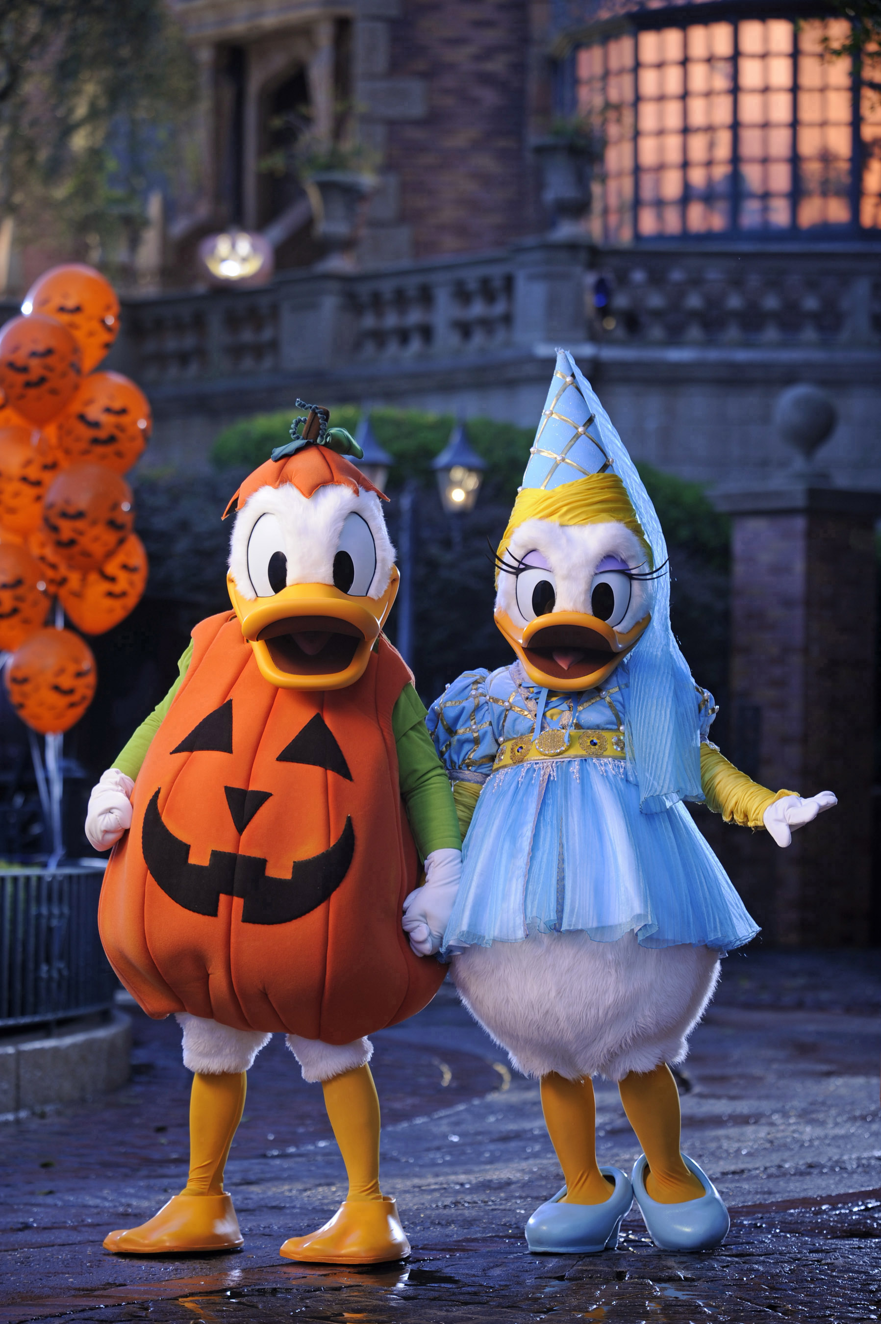 """Donald and Daisy decked out for """"Mickey's Not-So-Scary Halloween Party"""""""